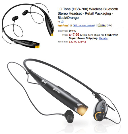 Lg Tone Hbs 700 Wireless Bluetooth Stereo Headset Gets Liquidated Techeblog