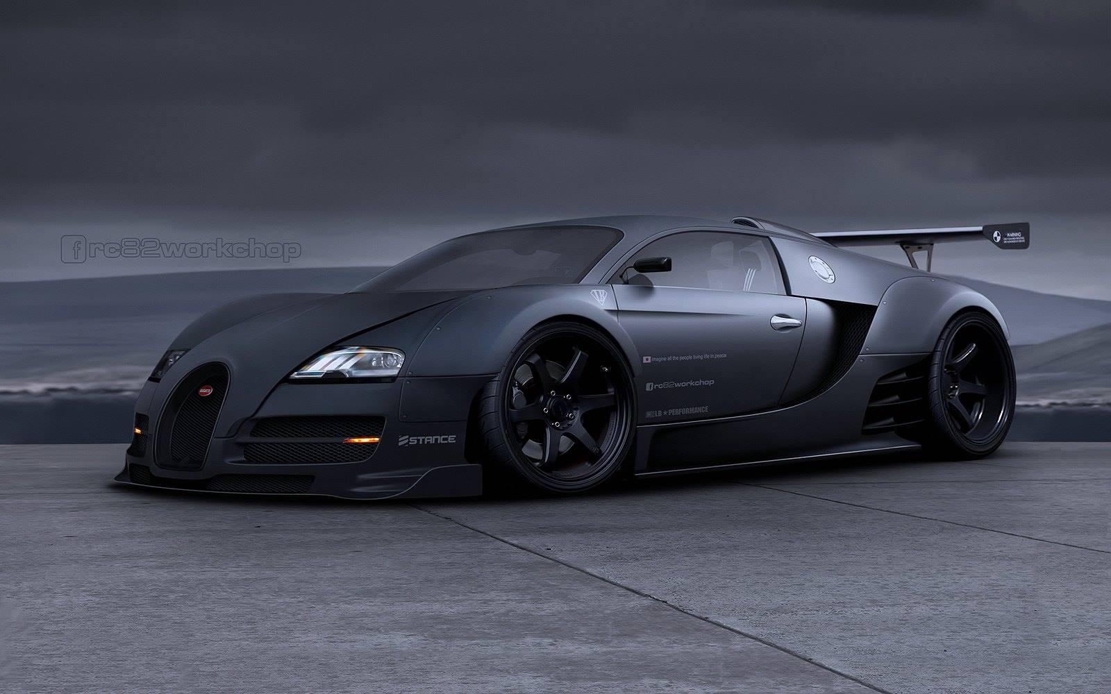 liberty walk bugatti veyron shows how the hypercar would look with an extreme. Black Bedroom Furniture Sets. Home Design Ideas