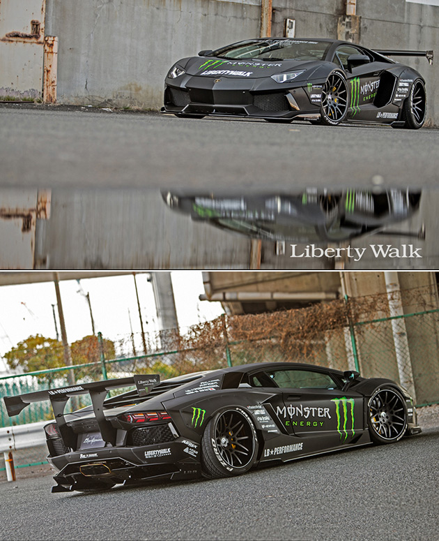 Liberty Walk Monster Energy Aventador