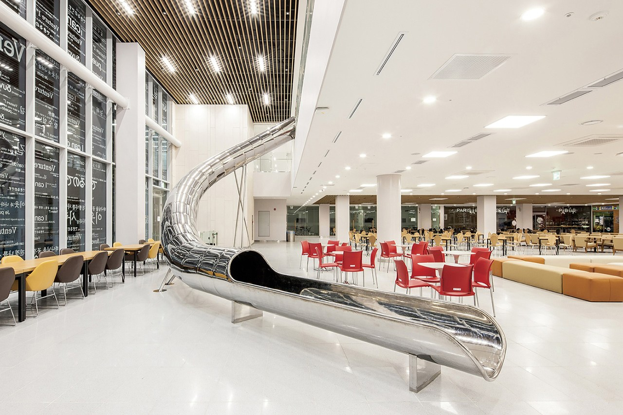Library with Slide