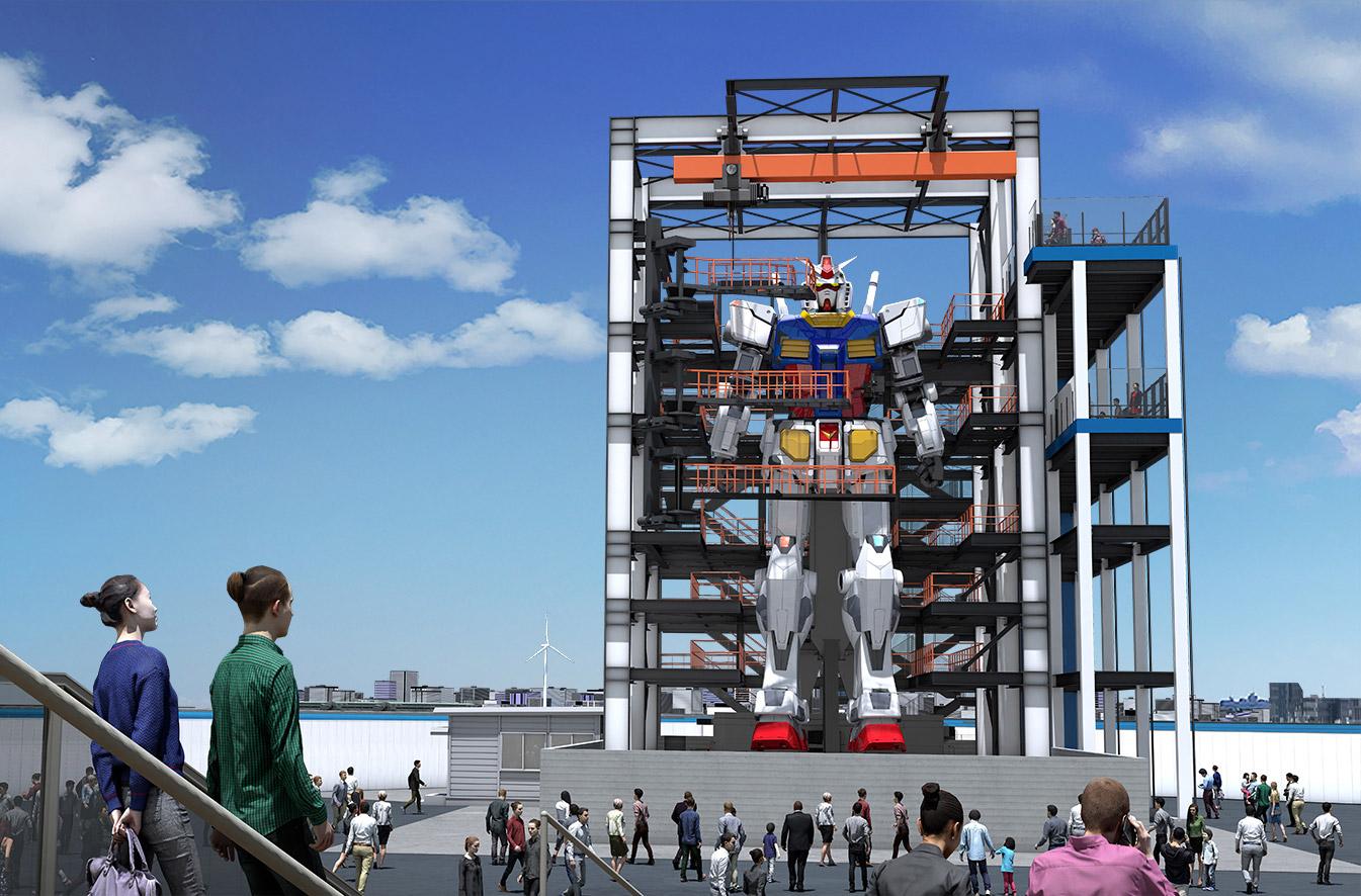 Life-Sized Gundam Robot Factory Yokohama