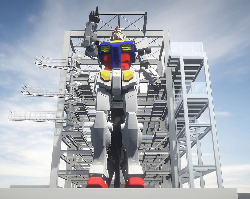 Life-Sized Gundam RX-78-2 Robot