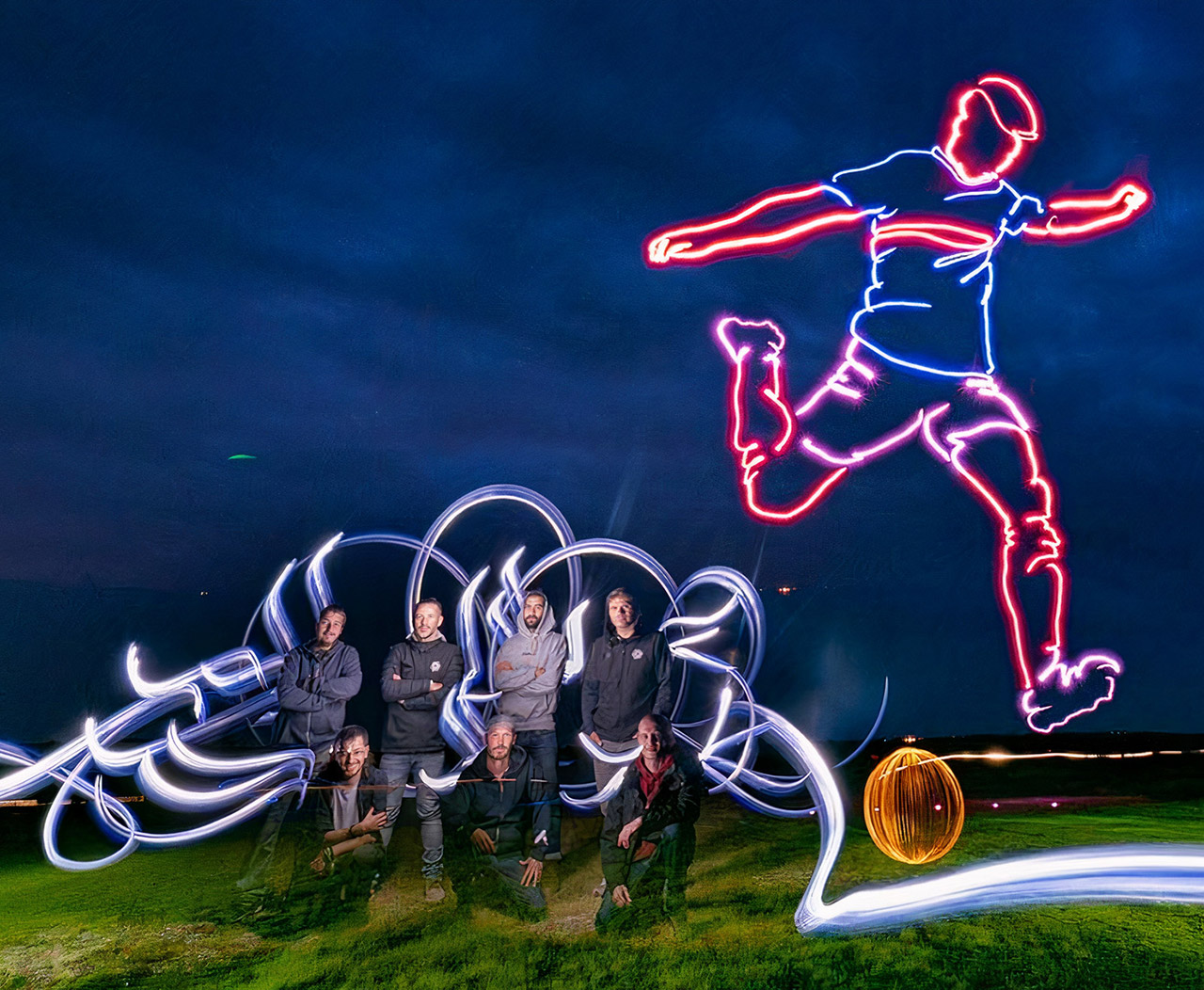 Light Painting Drones