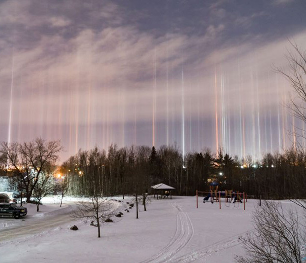 Light Pillars Canada