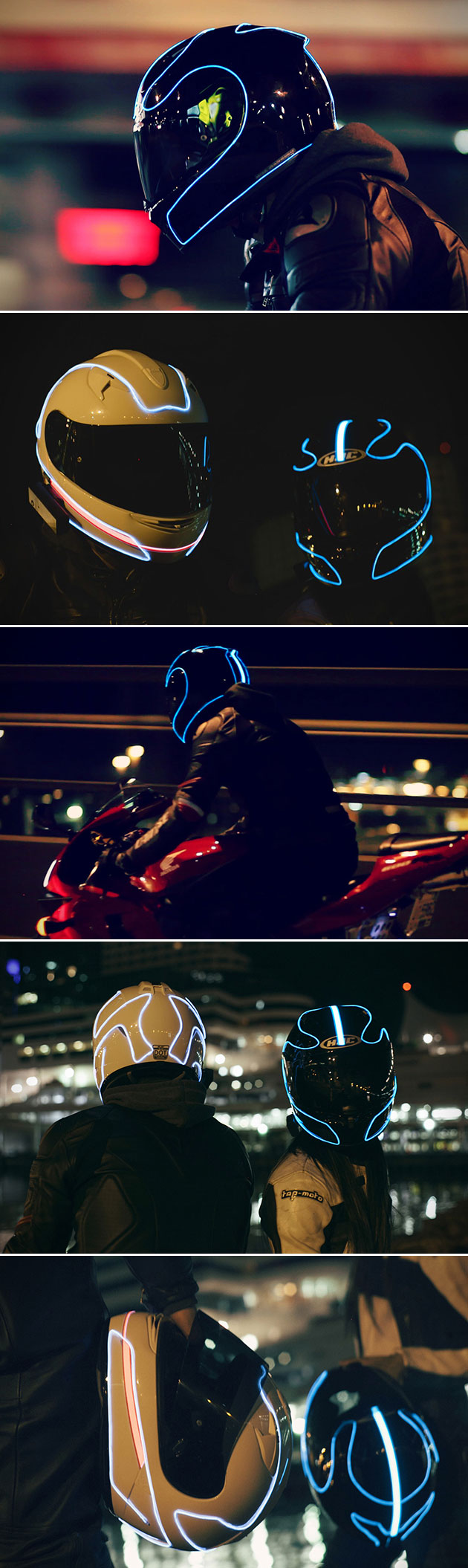 LightMode Motorcycle Helmet TRON