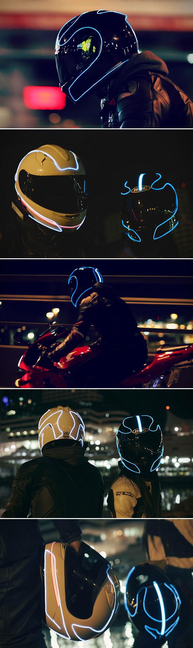 LightMode Motorcycle Helmet TRON