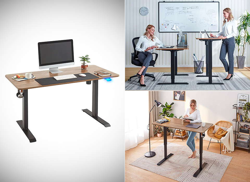 Linsy Home Electric Height Adjustable Standing Desk