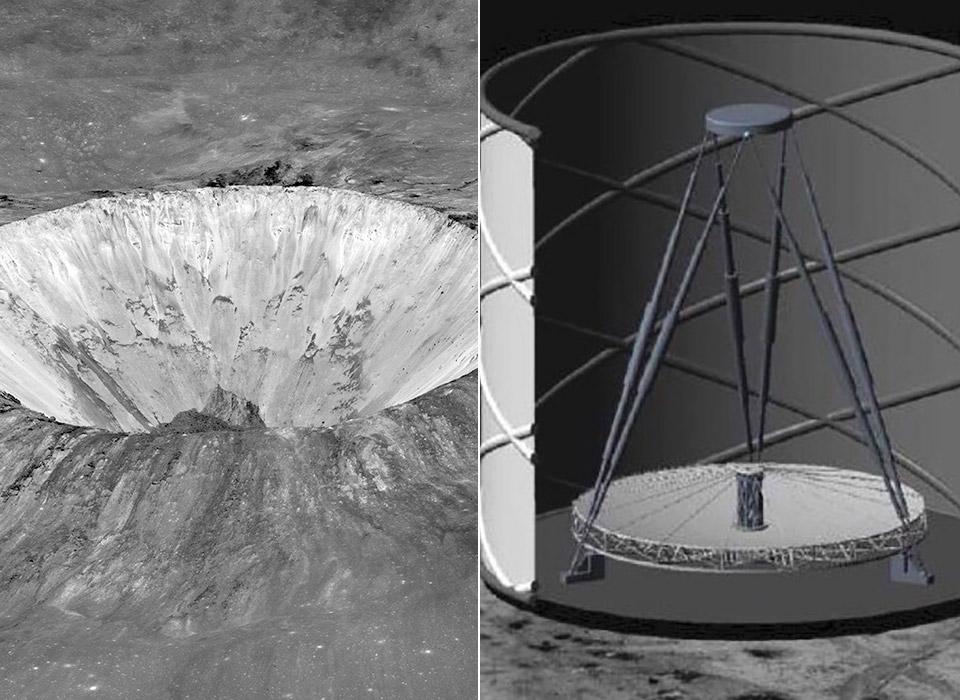 Liquid-Mirror Telescope Astronomy Moon