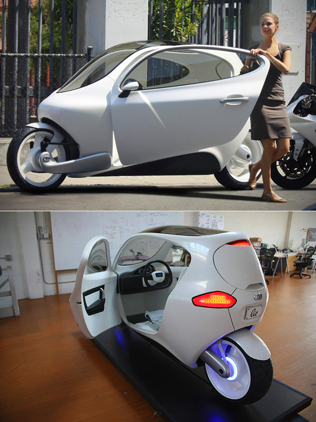 lit motors c1 is a two wheeled motorcycle and car hybrid that can 39 t be knocked down techeblog. Black Bedroom Furniture Sets. Home Design Ideas