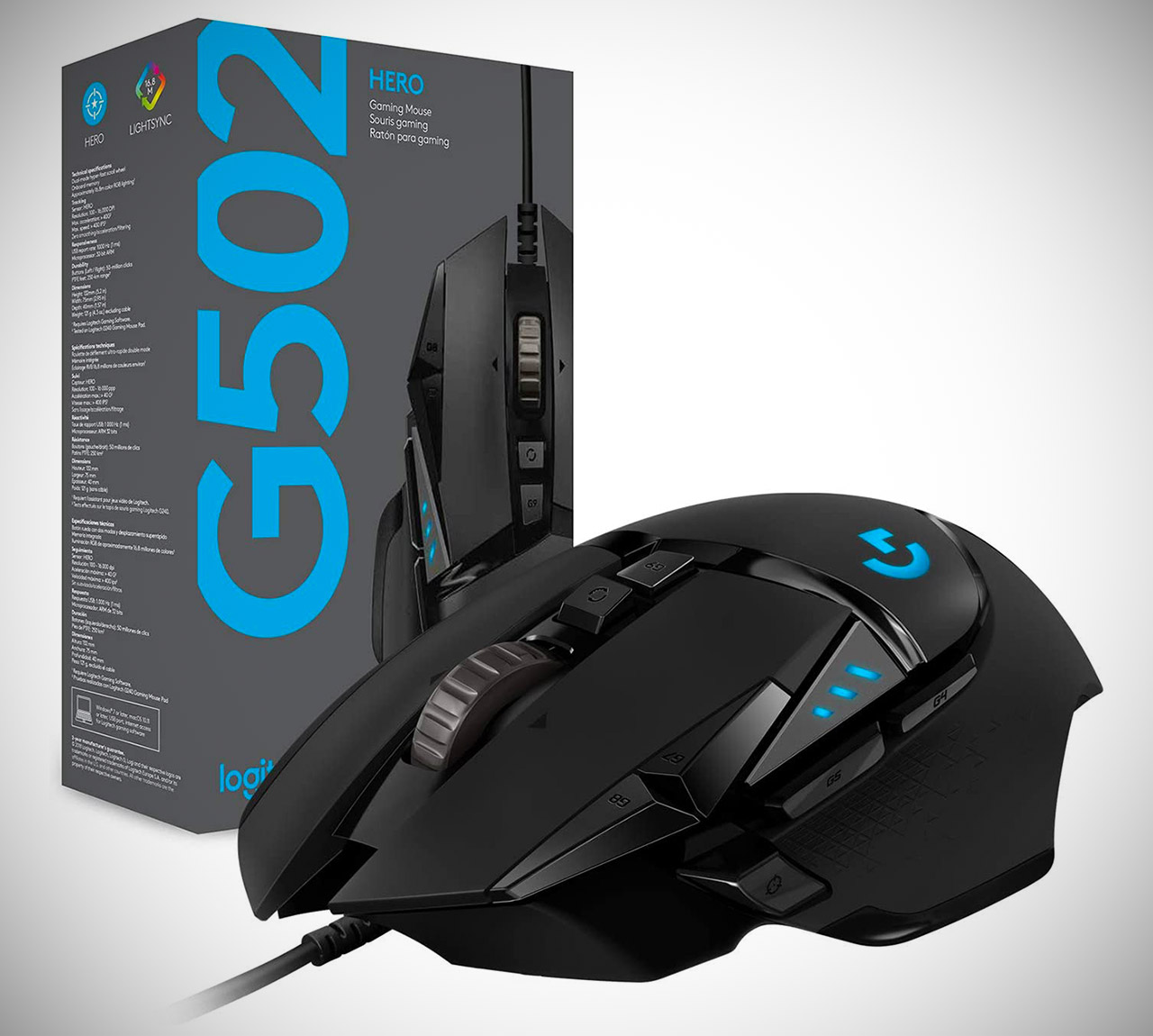 Logitech G502 Hero 25K Wired Gaming Mouse