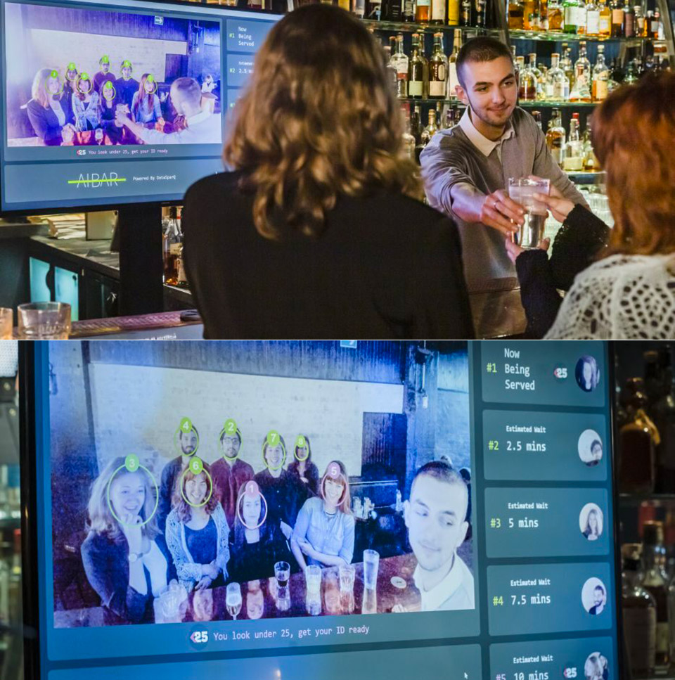 London AI Bar Facial Recognition