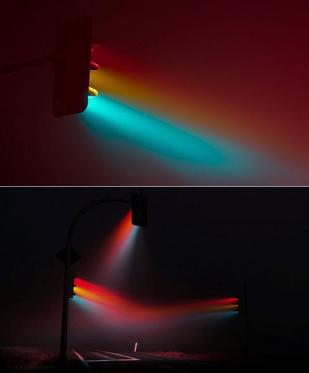 Long Exposure Traffic Lights