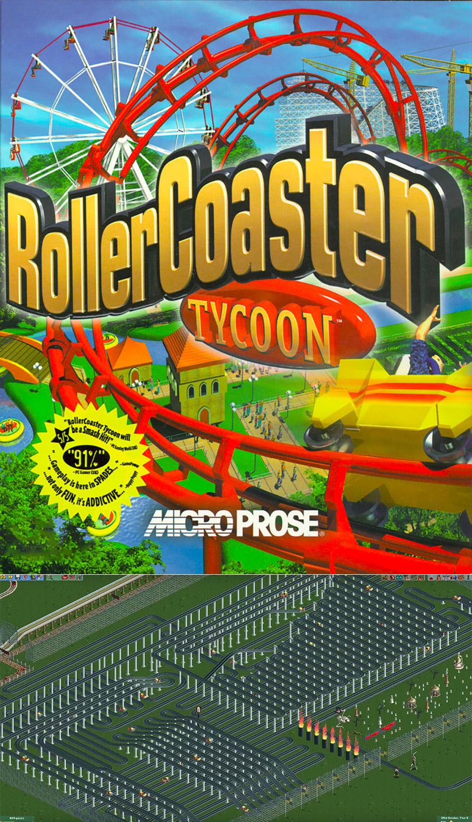 Longest Roller Coaster Tycoon YouTube