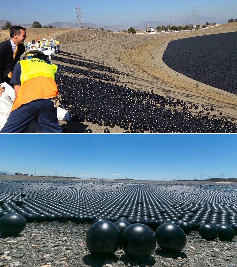 Los Angeles Reservoir 96-Million Black Balls