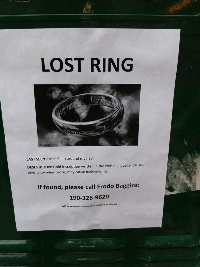 Lost Ring Flyer