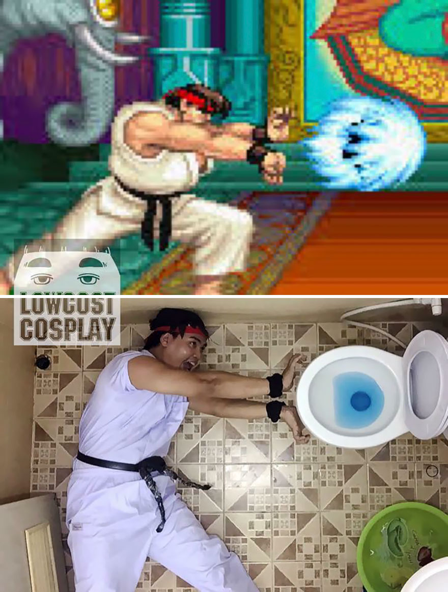 Street Fighter's Ryu and 10 More Strange Examples of Low Cost Cosplay