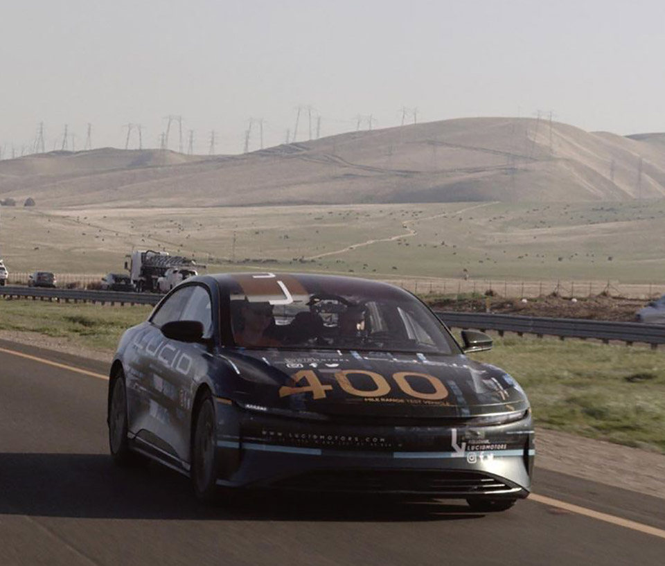 Lucid Air Prototype 400-Miles