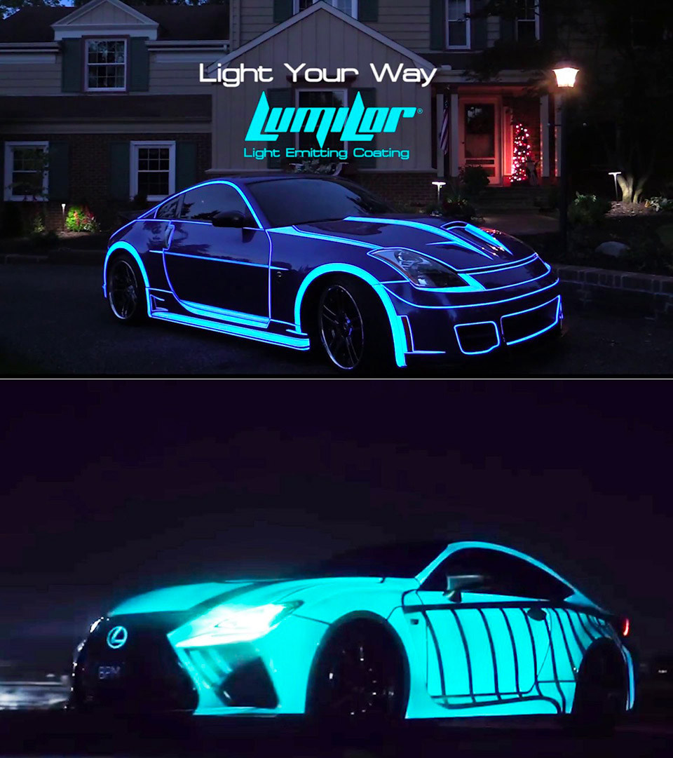 Lumilor Spray On Paint For Cars Lights Up When You Shock It With Electricity Techeblog