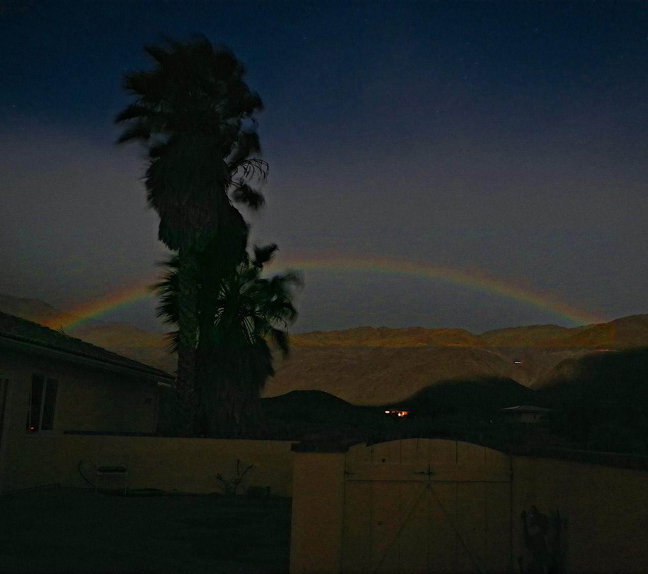 Lunar Rainbow Moon Southern California Desert