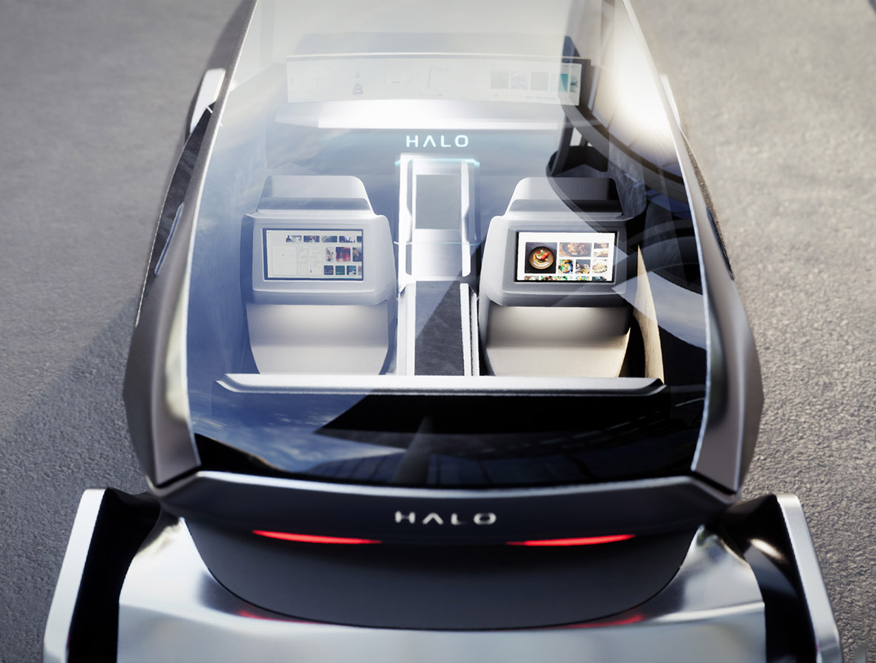 Luxoft Halo Robo Taxi LG CES