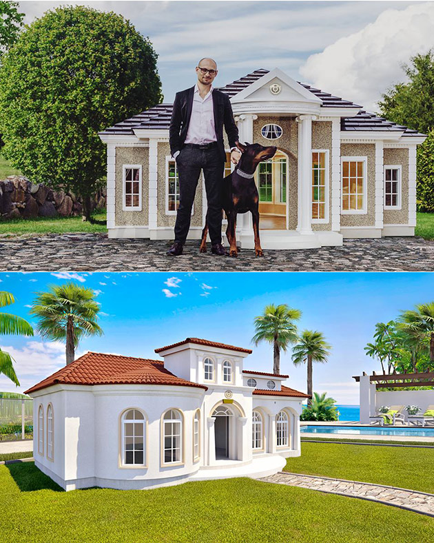 You could either spend 200 000 on a new house or a for A mansion house