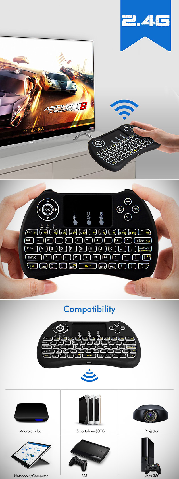 Lynec H9 Touchpad Keyboard