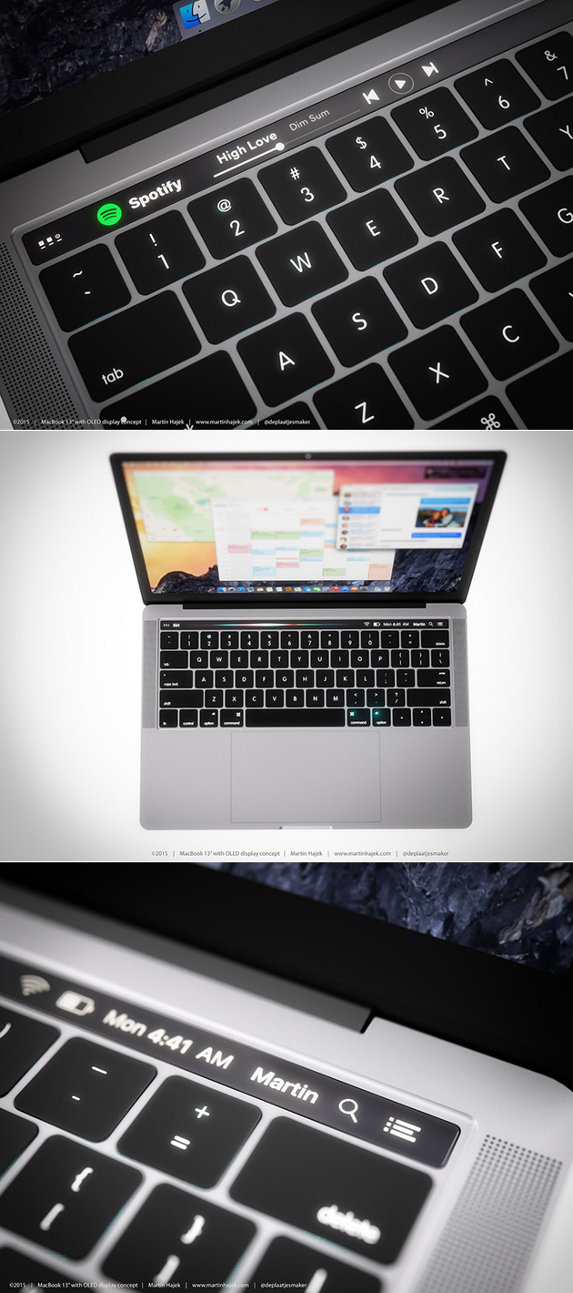 MacBook OLED Touch Bar