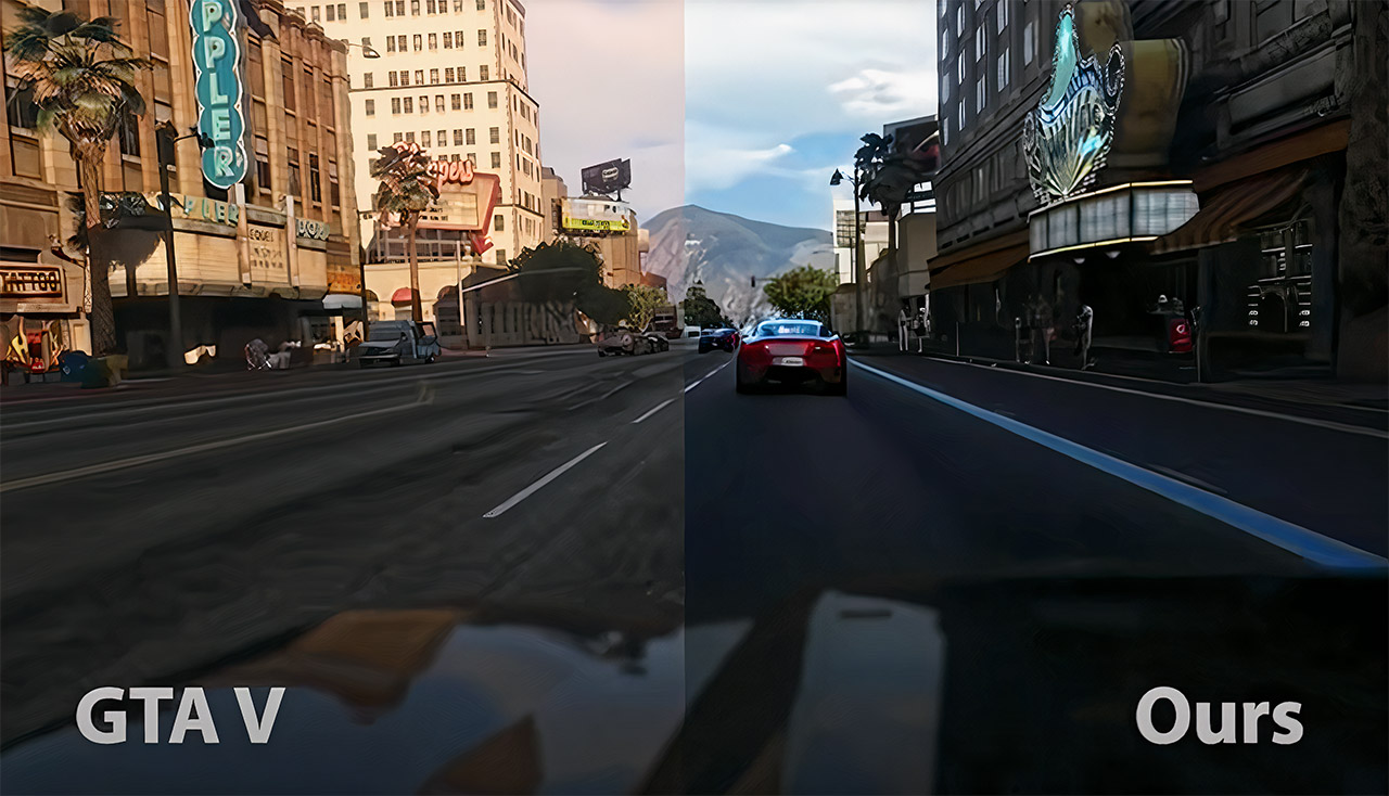 Machine Learning GTA V Photorealistic Video Game