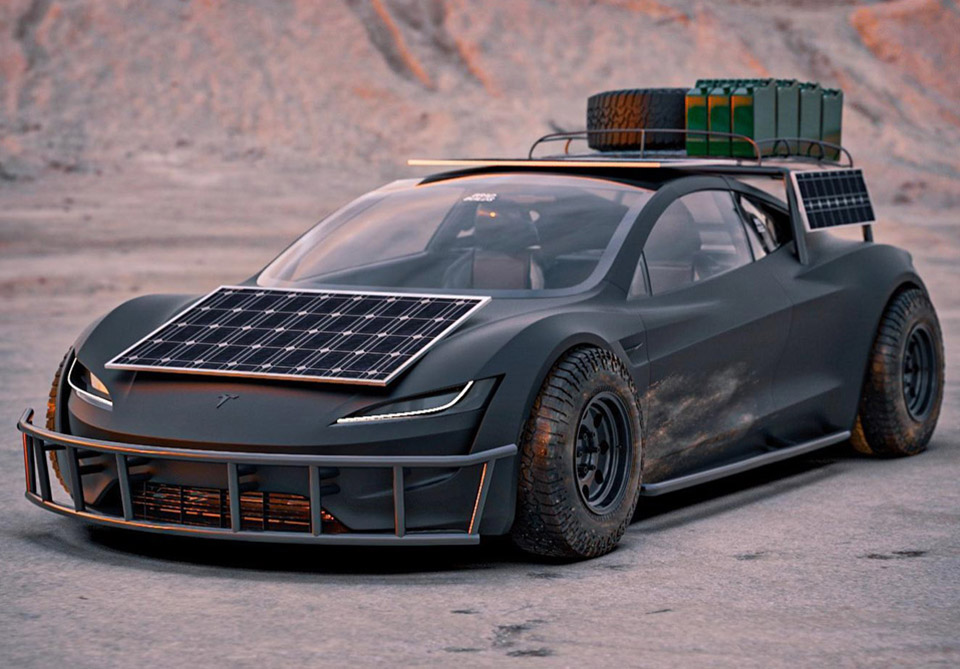 Mad Max Tesla Roadster