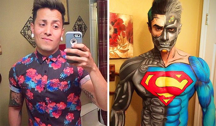 Artist Transforms Himself Into Comic Book Characters Like