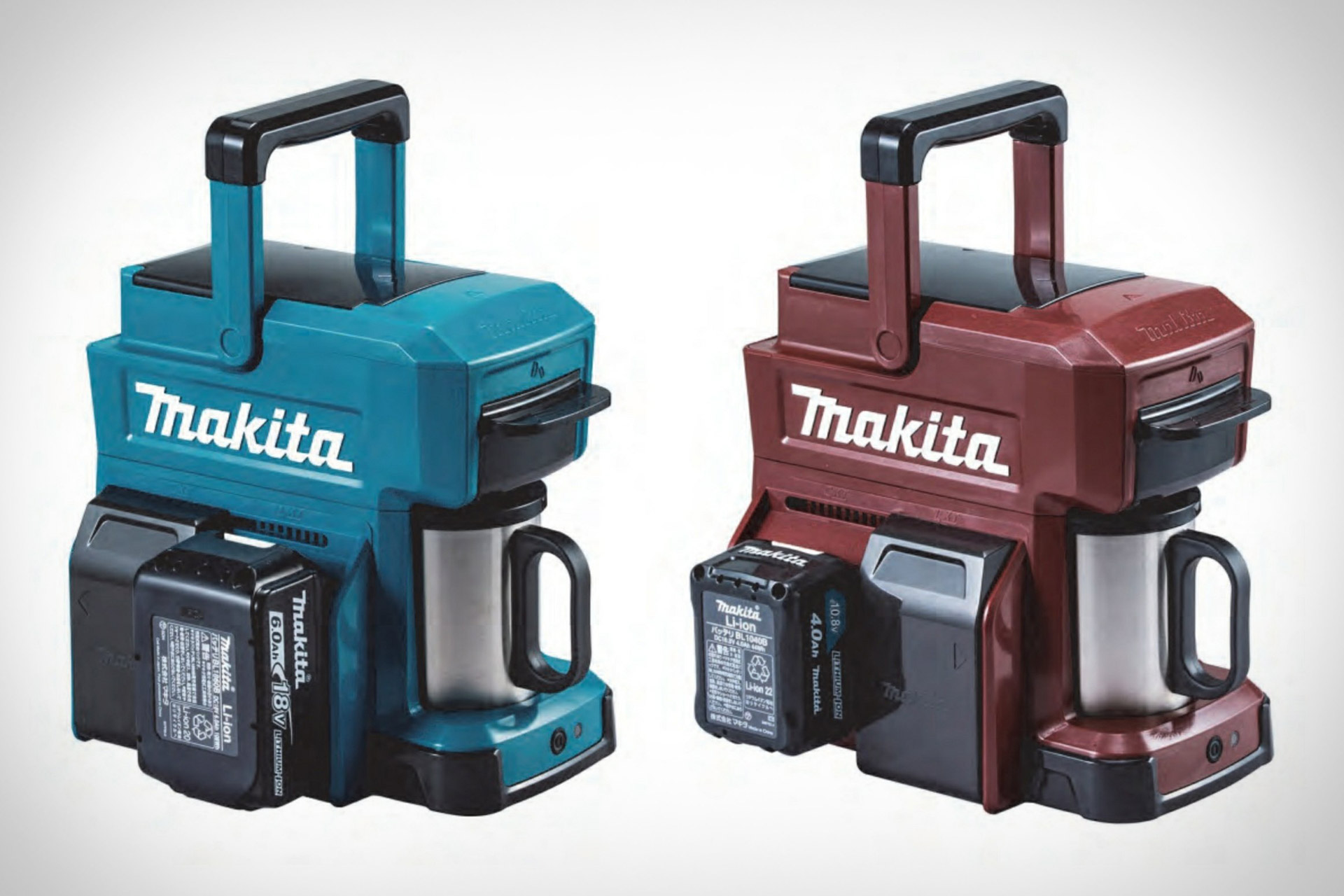 Makita CM501D Coffee Maker Runs Off Power Tool Batteries