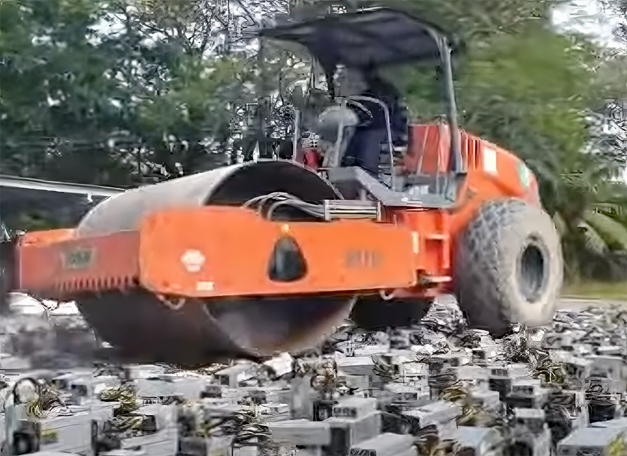 Malaysia Police Steamroll Bitcoin Mining Machine Computers