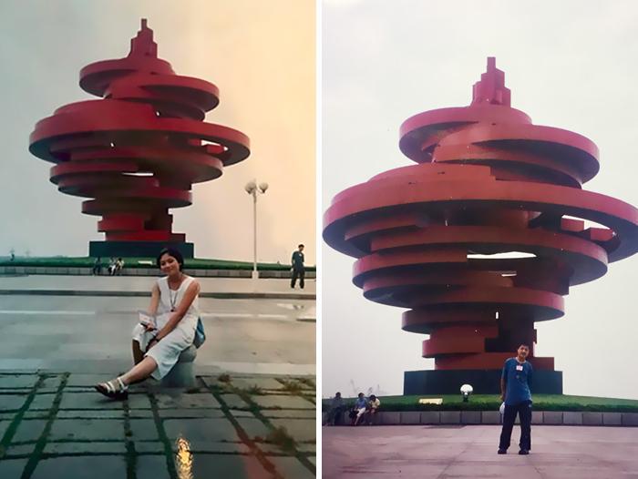 Man Woman China 11-Years Meet