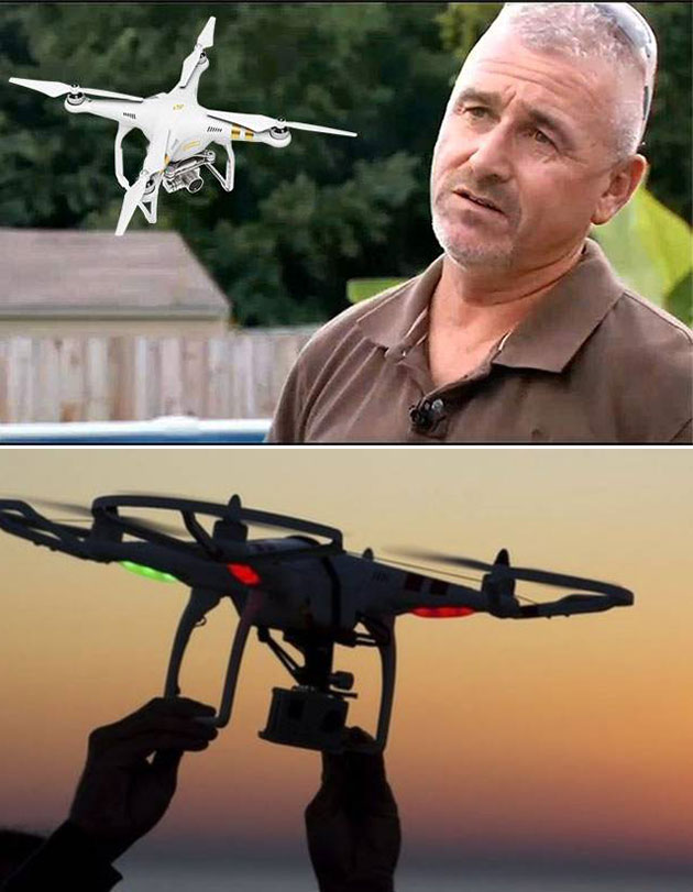 Man Shoots Down Drone