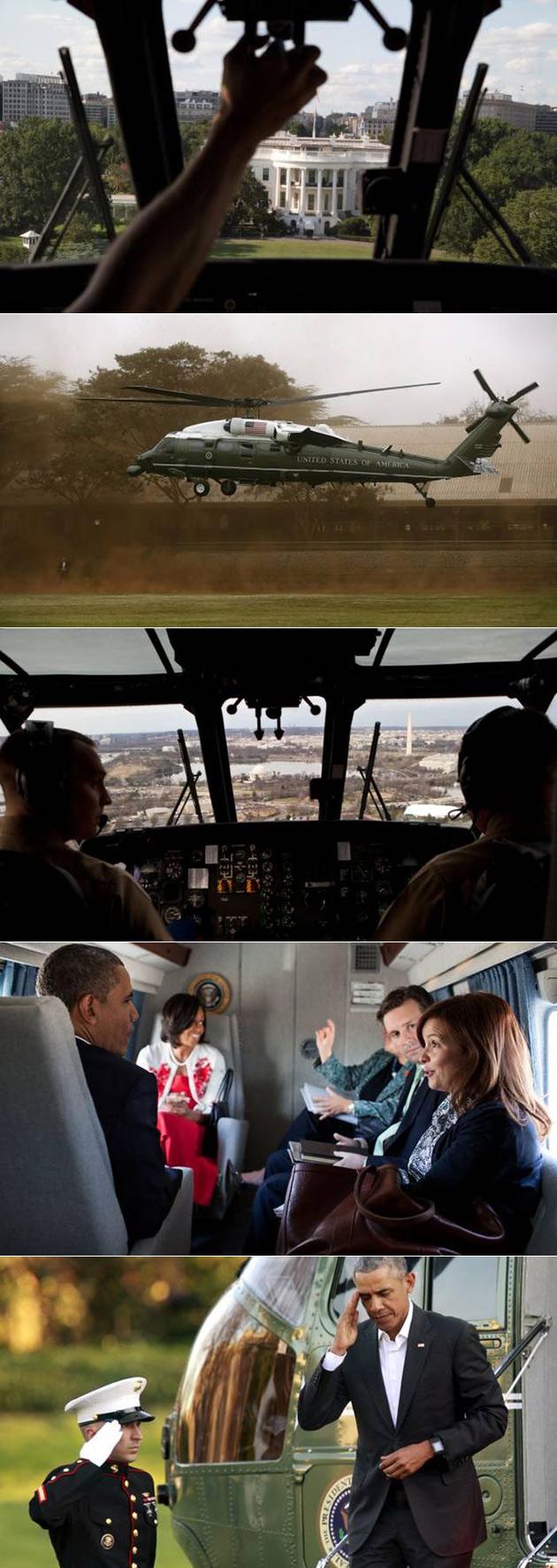 Regard Rare à la Présidentielle Marine Un Hélicoptère, Exploité par la Marine Escadron d'Hélicoptères de l'Un