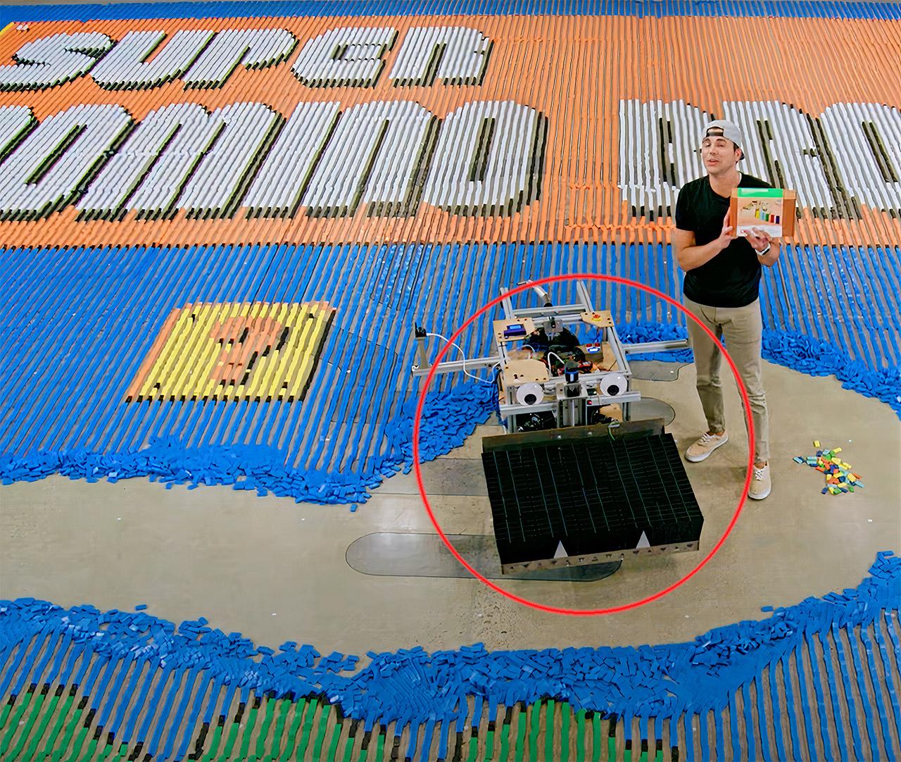 Mark Rober NASA Domino Robot Super Mario Bros