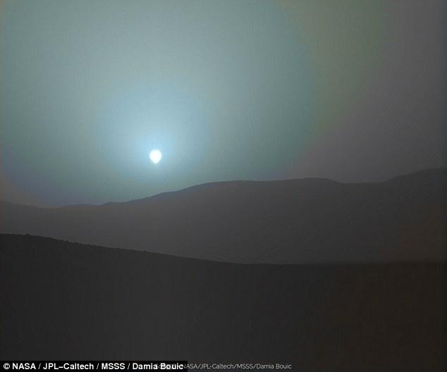 Mars Martian Sunset