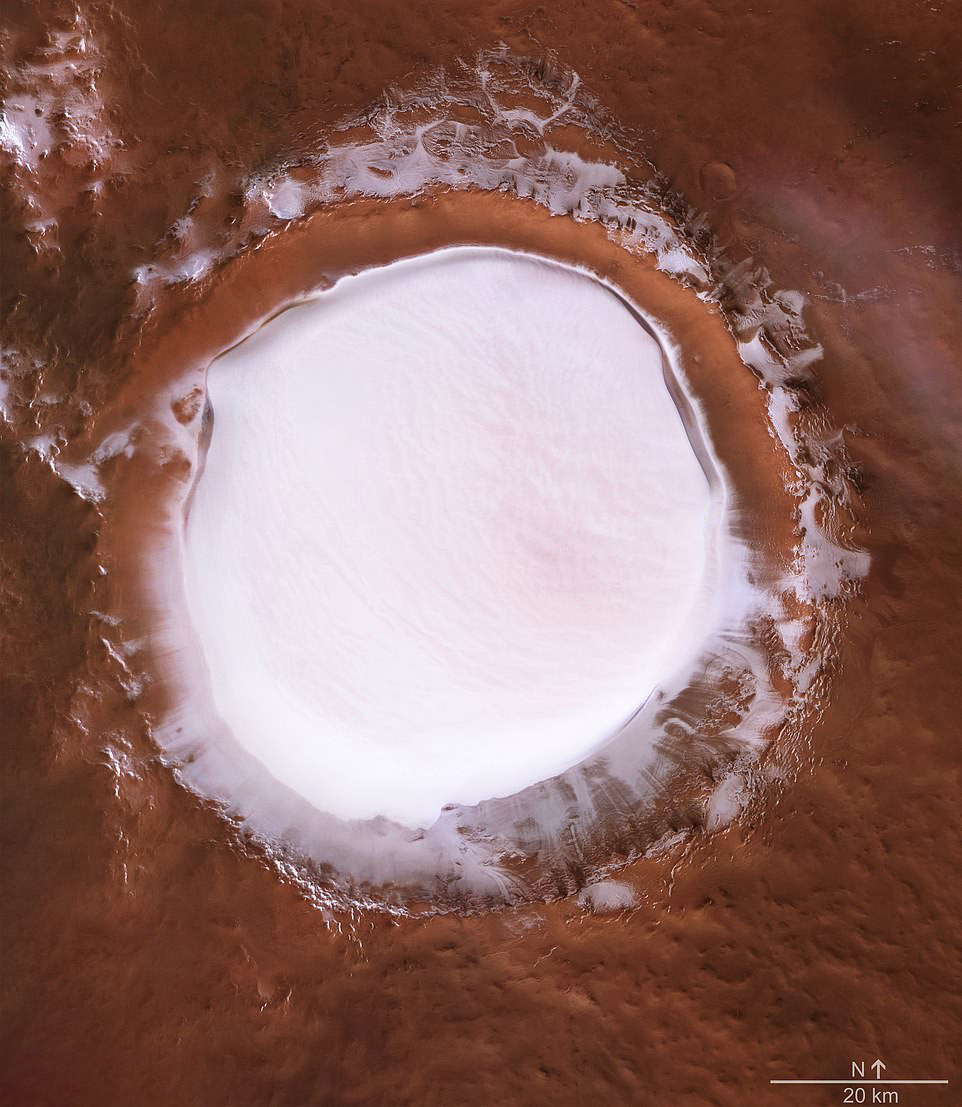 Mars Photo Ice Crater