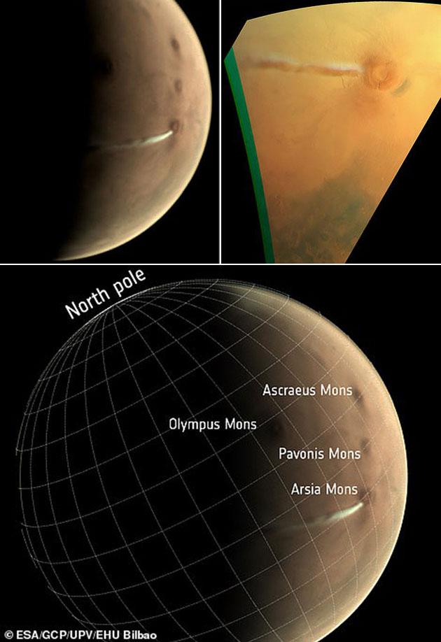 Mars Volcano Smoke