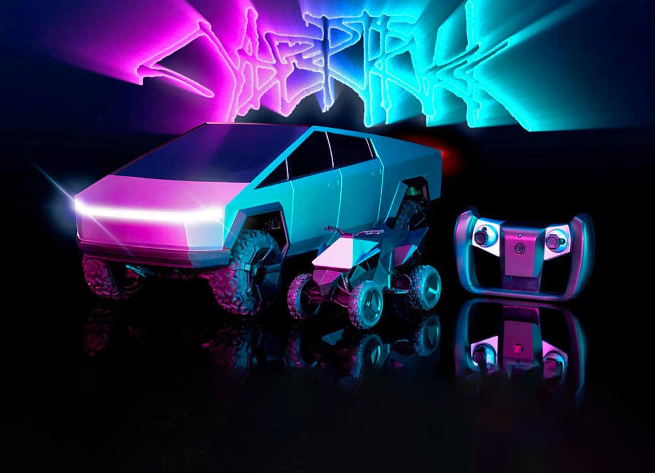 Mattel Hot Wheels RC Tesla Cybertruck Cyberquad