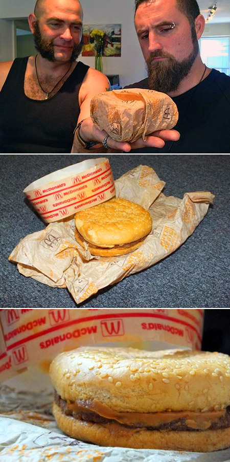 This is What a McDonalds Burger Looks Like After 20-Years
