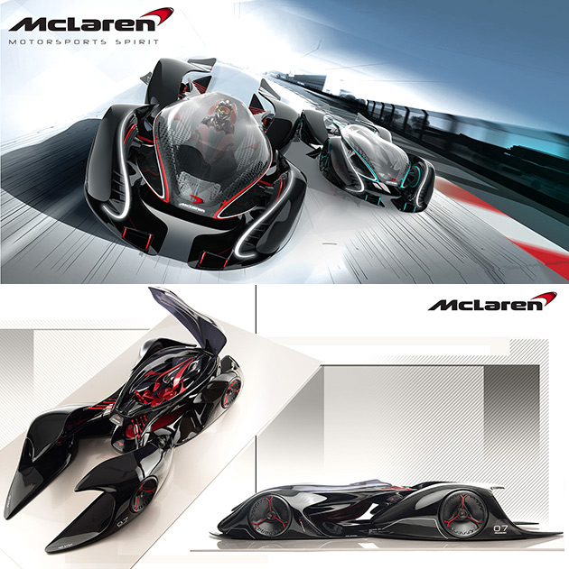 if mclaren designed the next batmobile, it would probably look like