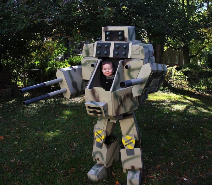 Mech Warrior Costume