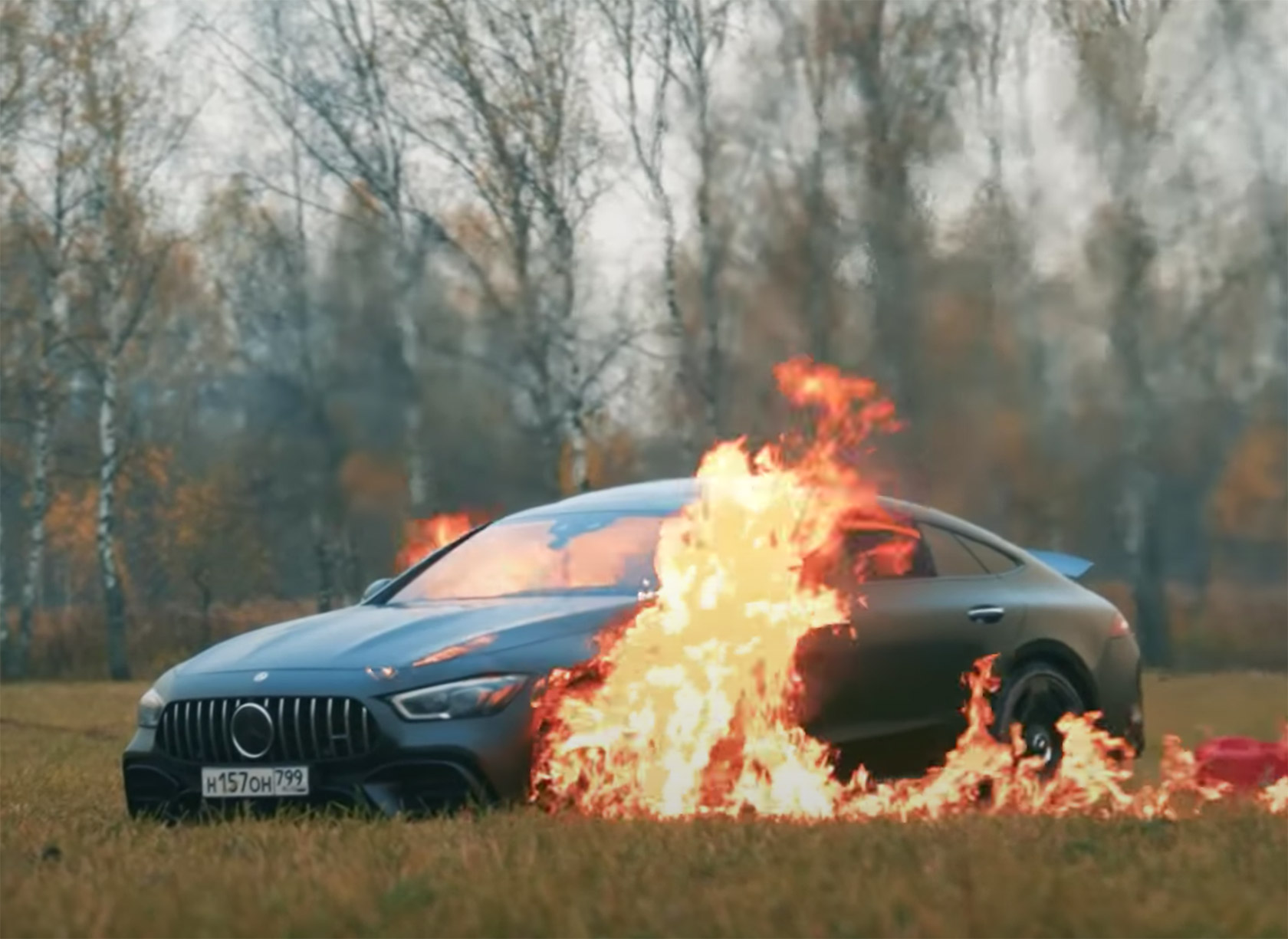 Mercedes-AMG GT 63 S Burned
