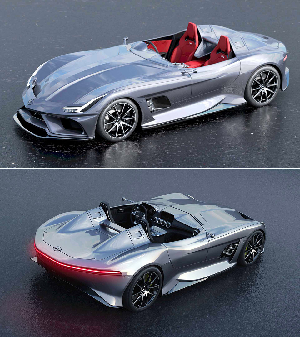 Mercedes-AMG Silver Echo SLR Stirling Moss