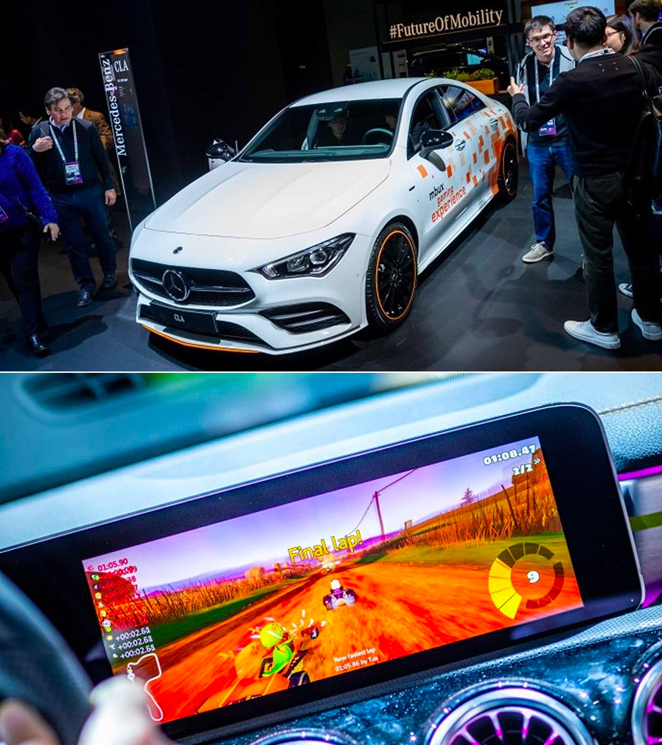 New Mercedes-Benz CLA-Class Can Play Mario Kart On Its