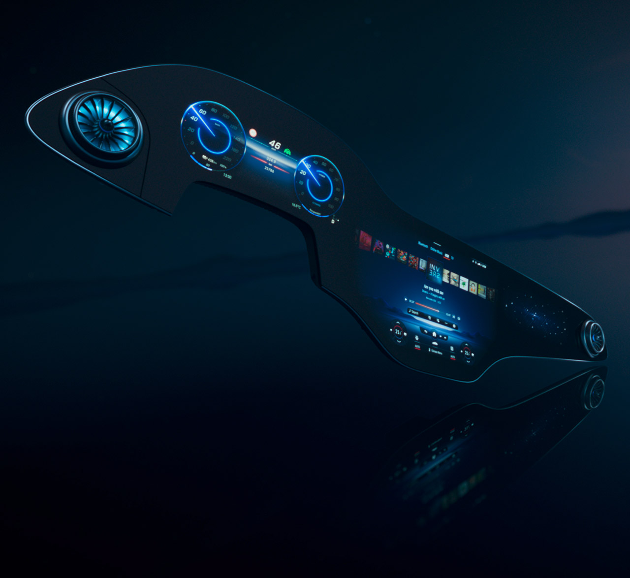 Mercedes-Benz EQS Concept MBUX Hyperscreen