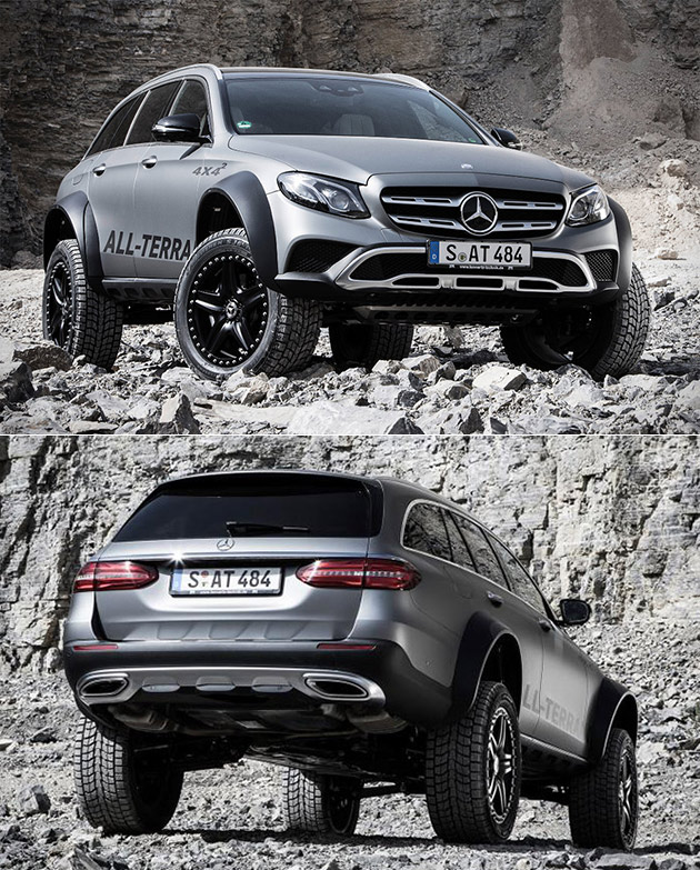 Mercedes e class all terrain 4x4 squared combines luxury for Mercedes benz 4x4 squared