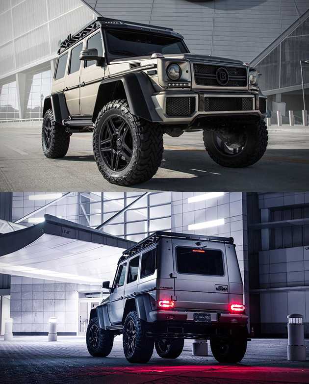 Mercedes benz g550 brabus 4x4 squared combines luxury with for Mercedes benz g550 4x4 squared