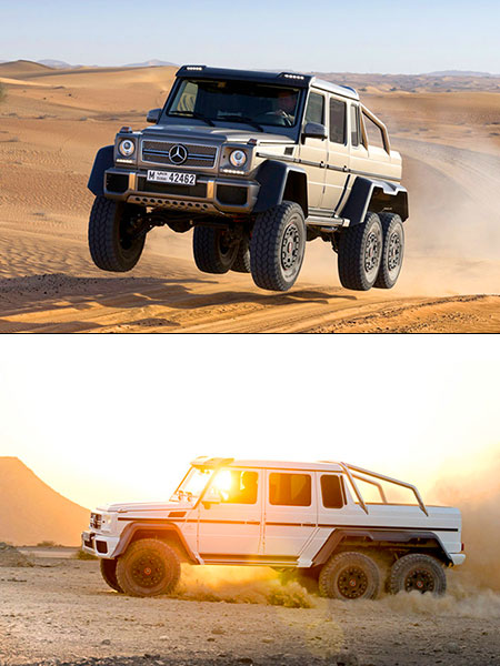 Mercedes benz g63 amg 6 x 6 unveiled might be ultimate for Six wheel mercedes benz